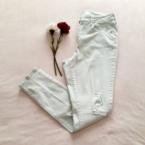 Old Navy Mint Colored Skinny Jeans